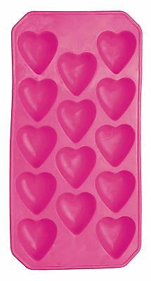 kitchen craft New Barcraft Red Silicone Heart Shaped 14 Hole Ice Cube Tray