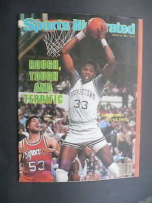 Sports Illustrated March 19, 1984 Patrick Ewing Georgetown NCAA LPGA Mar '84 D