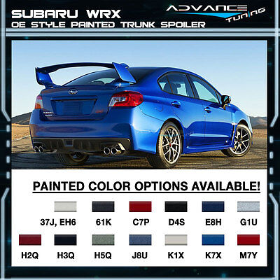 Fit For 15-17 Subaru WRX STI OE Painted Trunk Spoiler All OEM Color Matched