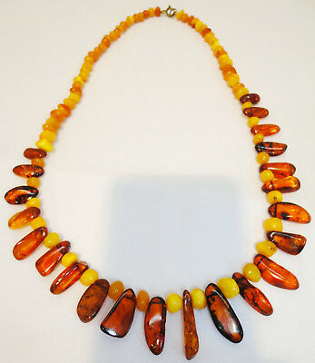 Baltic Amber Butterscotch Egg Yolk Collectibles Beads Necklace 19gr! Genuine, 25