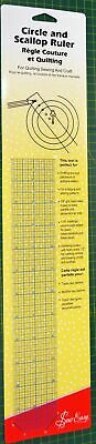 """Sew Easy Circle & Scallop Ruler, 18"""" x 2"""", Flexible Plastic For Quilting, Sewing"""