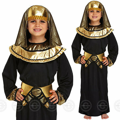 Boys Egyptian Pharaoh Fancy Dress Costume Outfit Egypt Childs Kids Book Day Week