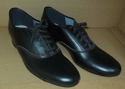 new/box Boy's Mens Black  Character Oxford Jazz Theater ShowChoir leather sole
