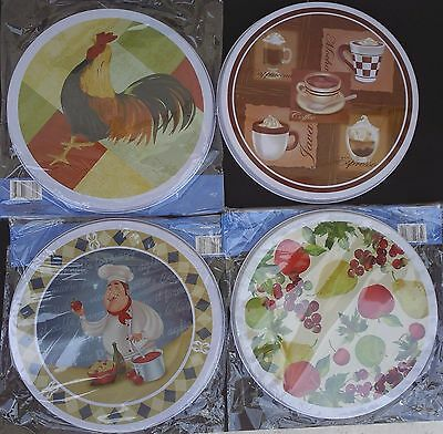 "STOVE TOP BURNER COVERS Two Covers/Pk(8""&10""), SELECT: Rooster Coffee Chef Fruit"