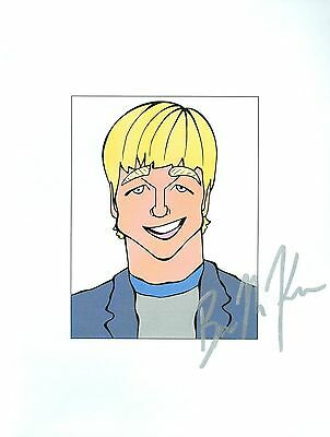 "BENJAMIN BEN MACKENZIE ""Ryan Atwood"" in The OC Signed 8.5x11 Cartoon Autograph a"