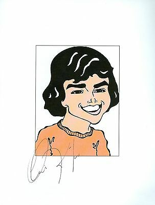 "CHRISTOPHER KNIGHT ""Peter"" The Brady Bunch Signed Auto 8.5x11 Cartoon Autograph"