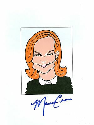 MARCIA CROSS Desperate Housewives, Melrose Place Signed 8.5x11 Cartoon Autograph