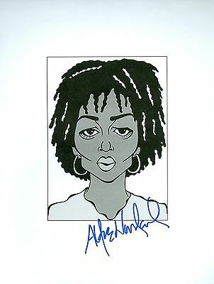 ALFRE WOODARD Desperate Housewives, 3 Rivers Signed 8.5x11 Cartoon Autograph a