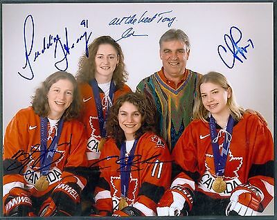 KELLAR, HEANEY, POUNDER & PIPER 2002 Olympic Hockey Gold Signed 8x10 Color Photo
