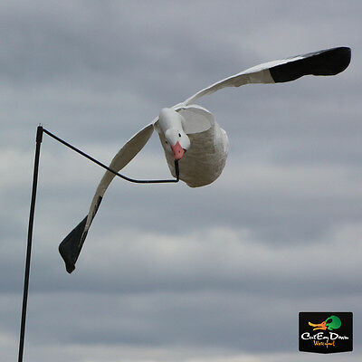 White Rock Decoy Company Deck Boss Flying Flyer Snow Goose Decoy Flapping Motion