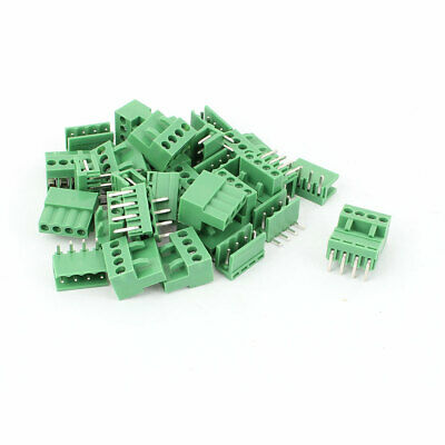 16 Pcs 3.96mm Pitch 4 Pin PCB Pluggable Terminal Block Connector