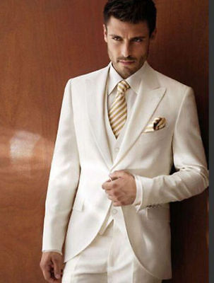 2015 Best Mens wedding Suit Groom Tuxedos Business Party Suits Formal Tailcoats
