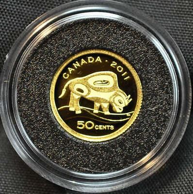 2011 Canada 50 Cent Fine Gold Coin - Wood Bison in Original Packaging