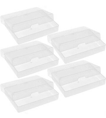 5 X Atc Plastic Storage Box Playing Cards Case Business Card Holder Boxes New