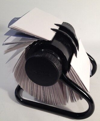 Rolodex business card file. 2x4 cards. Black Office supply