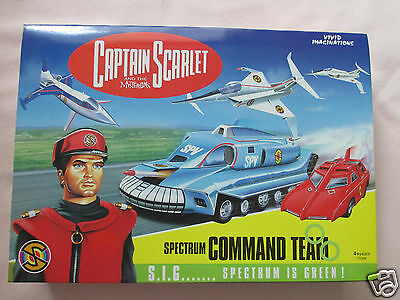 Captain Scarlet Spectrum Command Team Die-Cast Models - Mint Condition.   *sale*