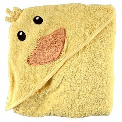 Luvable Friends Cotton Hooded Woven Baby Toddler Newborn Bath Duck Towel