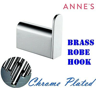 Solid Brass Chrome Finish Robe Hook Towel Hanger Holder Bathroom Accessories