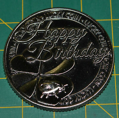 Lucky Coin, Happy Birthday, 35mm Diameter, A Beautiful Gift Idea