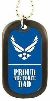 USAF US Air Force The Airman's Creed Military Dog Tag with chain