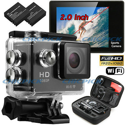 WIFI Waterproof  Sports Camera SJ4000 Travel Kit Action DV 1080P Full HD Cam Set