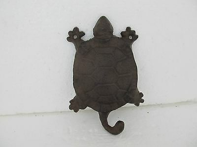Cast Iron Very Decorative Turtle Single Hook for Home or Garden