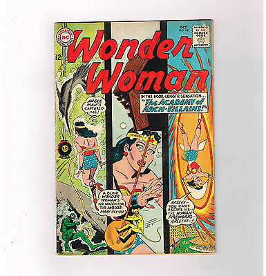 WONDER WOMAN (v1) #141 Grade 6.0 Silver Age DC! Features bonmdage cover art!