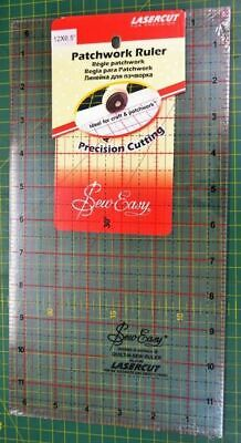 "Sew Easy Patchwork Ruler, 12 x 6.5"", Lasercut For Precission, Ideal For Crafts"