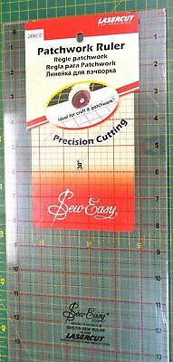 "Sew Easy Patchwork Ruler, 24 x 6.5"", Lasercut For Precission, Ideal For Crafts"