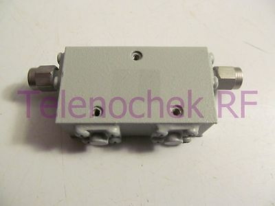 RF microwave dual junction isolator 7200 MHz - 12.5 GHz /  25 Watt / data