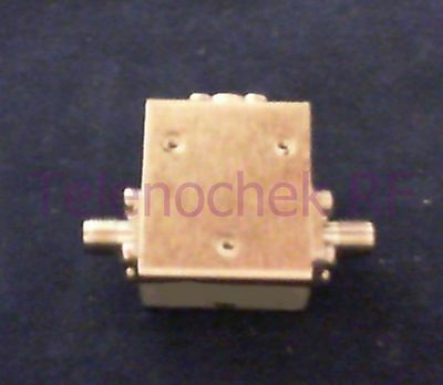 RF microwave single junction isolator 4725 MHz - 7625 MHz /  20 Watt / data
