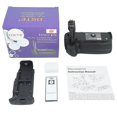 DSTE BG-E11 Battery Grip With Remoter for Canon EOS 5D Mark III 5D3 as LP-E6