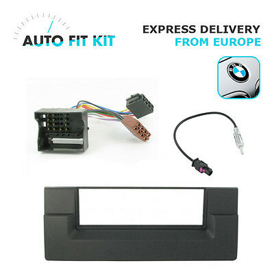 BMW Series 5 E39 1 Din Single DIN Fascia Radio Stereo Replacement Kit Fakra