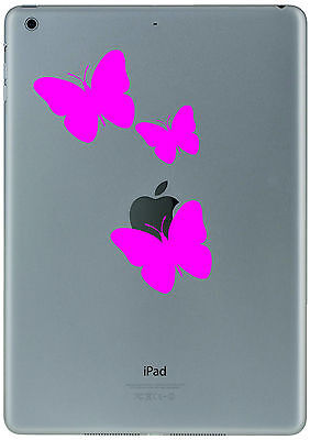 344 Ipad Mini Air  3 Pink Butterflys Sticker Decal Tablet Customize  your iPad