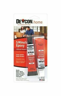 Devcon 20545 Clear 5 Minute Epoxy High Strength .5 oz Waterproof Glue Adhesive