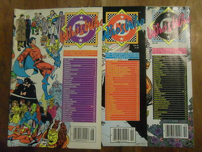 WHO'S WHO IN THE DC UNIVERSE FULL SET LOT of 3
