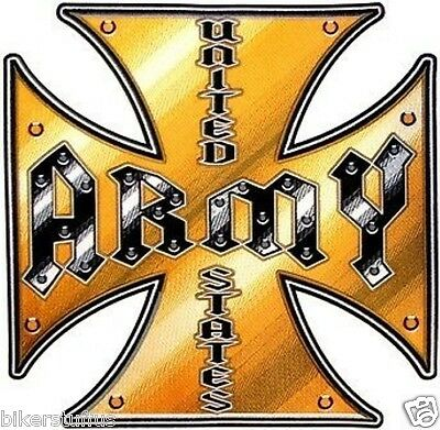 Army Iron Cross Bumper Sticker Toolbox Sticker Laptop Sticker Window Sticker