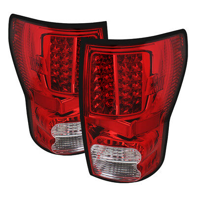 Toyota 07-13 Tundra Red Clear LED Tail Brake Light Base Limited SR5 Left & Right