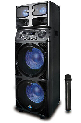 Dolphin SP-747RBT Karaoke Party Speaker with Wireless Microphone & Battery