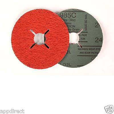 3M™ 985C Plain Hole Fibre Disc P36 Grit 100 mm X 16 mm 25 Per Pack