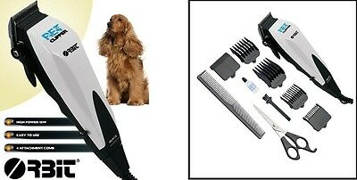 Pet Dog Cat Animal Grooming Clipper Hair Trimmer Electric Shaver 10 Pieces Kit