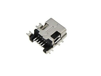 5P Mini USB Female Connector SMD Surface Mount - Pack of 10