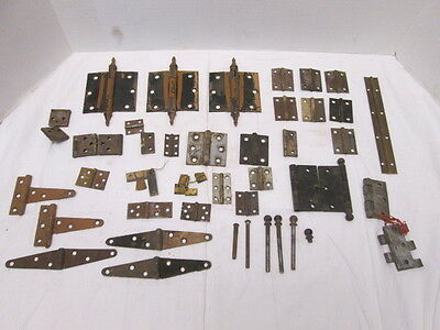 Assorted Door and Cabinet Vintage Hinges 42 Sets