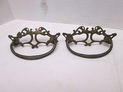 Pair of Antique GRBC Brass BRONZED Drawer Pulls