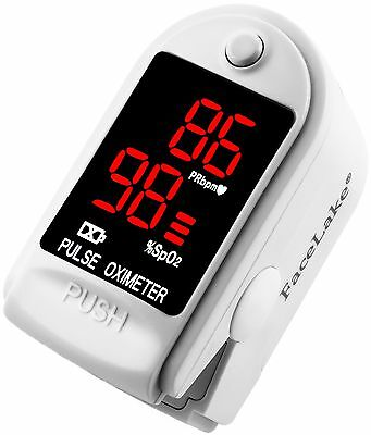 Pulse Oximeter Fingertip CMS50DL / FL400 Blood Oxygen SpO2 Monitor - White