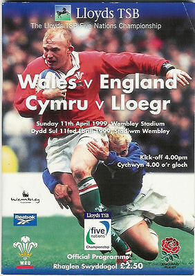 WALES v ENGLAND 1999 RUGBY MEMORABILIA COLLECTION, PROGRAMME DVD & TICKET