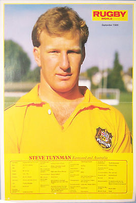 Steve Tuynman, Wallaby, Australia Rugby Poster