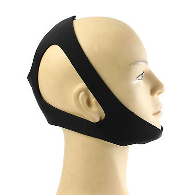 Anti Stop Snoring Apnea Belt Support Chin Strap Aid Mouth Guard Solution Sleep