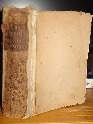 1888 Dr. Chase's Complete Receipt Book & Household Physician, Medical Remedies