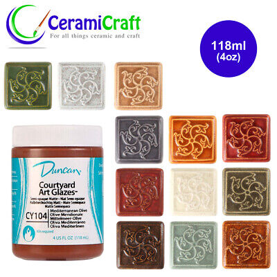 Duncan Courtyard Glazes 118ml, Ceramic, Pottery, Paint - Multiple Colours